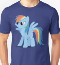 Rainbow Dash stance Slim Fit T-Shirt