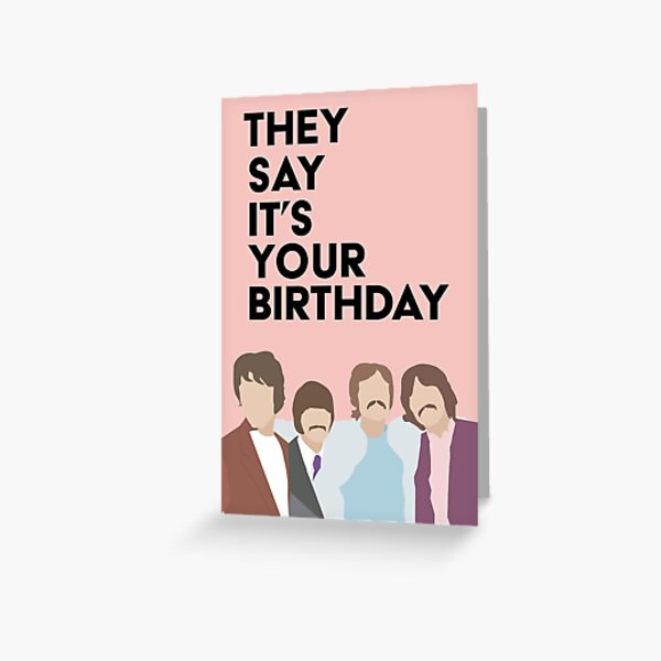 Beatles Members Birthday Greeting Card