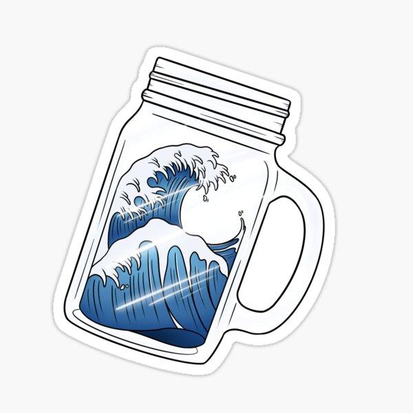 Mason Jar Wave Sticker