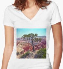 Canyon View Women's Fitted V-Neck T-Shirt