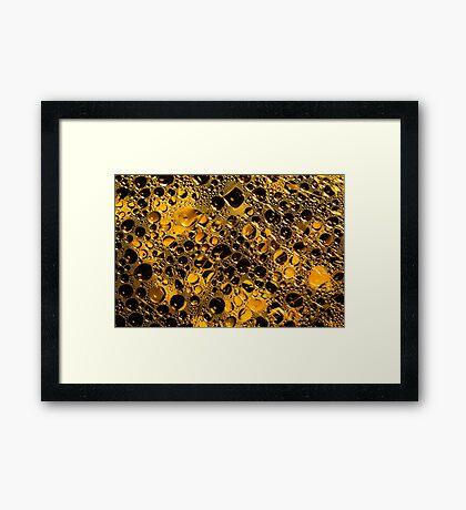 Black and Gold Framed Print