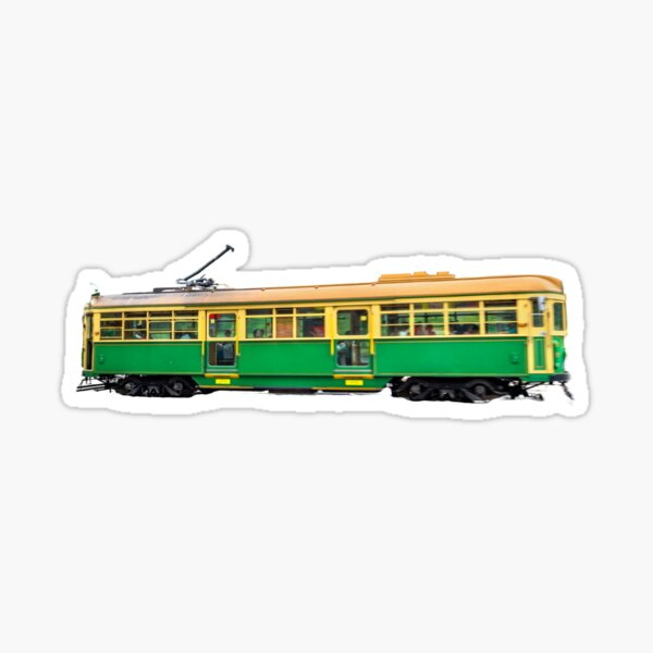 Melbourne tram, public transport print  Sticker