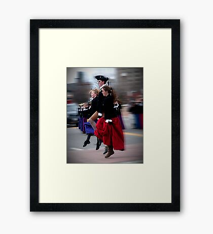 Step Dancing Framed Print