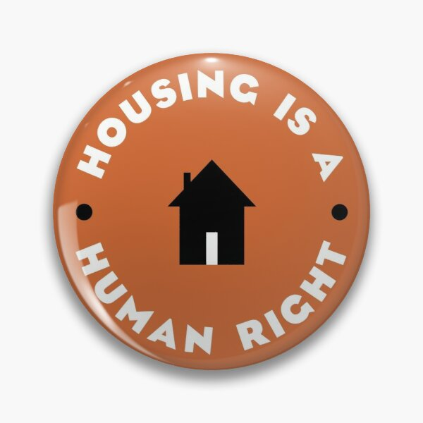 Housing Is A Human Right Pin