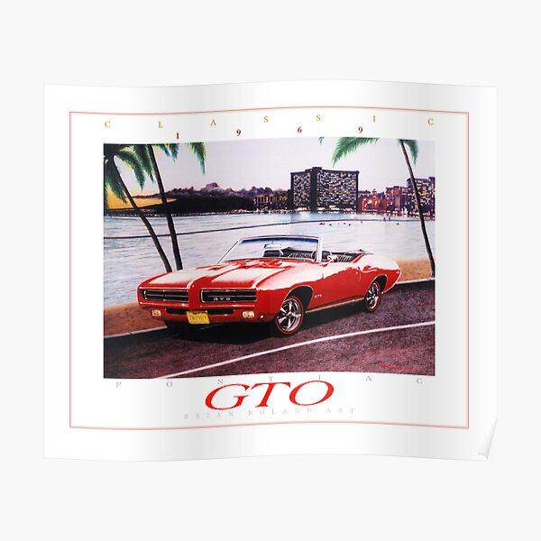 1969 Pontiac GTO Convertible ver 2 Poster