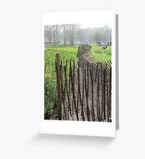 Green Park London Wonky Fence Greeting Card