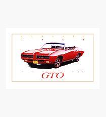 1969 Pontiac GTO Convertible ver 4 Photographic Print