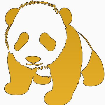 Golden Panda by jjdesigns