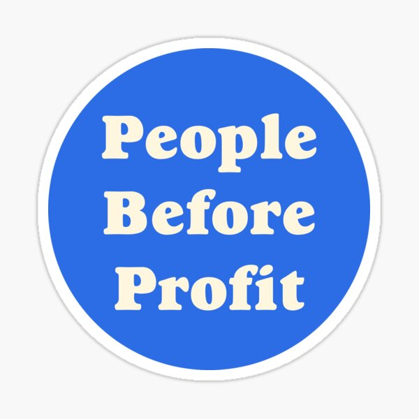 People Before Profit Sticker