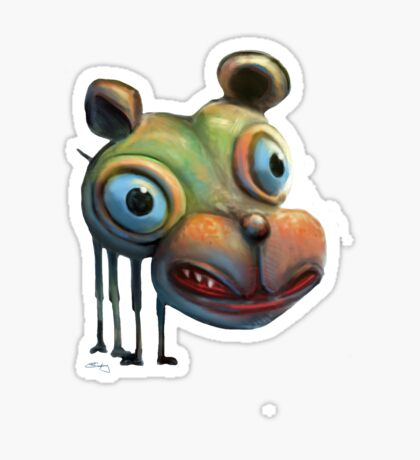 Hippo Dog Sticker