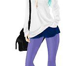 Purple stockings by Chantelle Janse van Rensburg