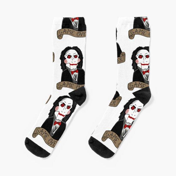 Billy the Puppet von Saw and Jigsaw Socken