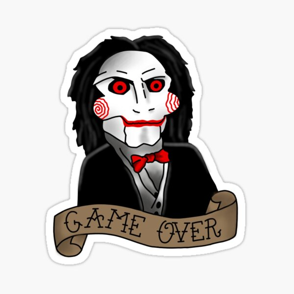 Billy the Puppet from Saw and Jigsaw Sticker