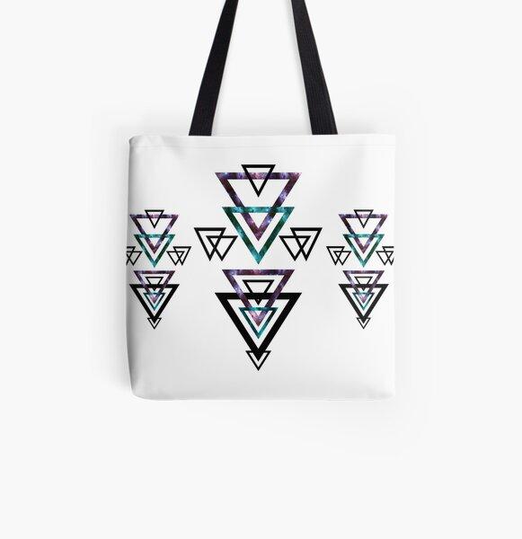 Bermuda Geometric Triangles I. All Over Print Tote Bag