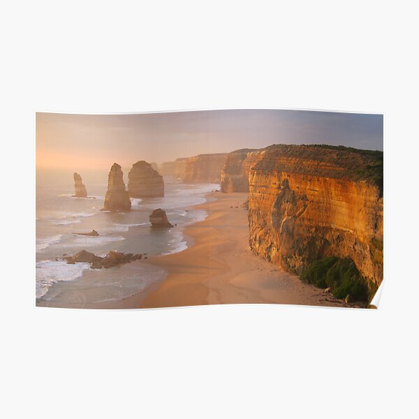 Red Glow, 12 Apostles at Sunset Poster