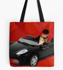 ☁ ☂  COOL CAT IN HIS COOL CAR ☁ ☂   Tote Bag