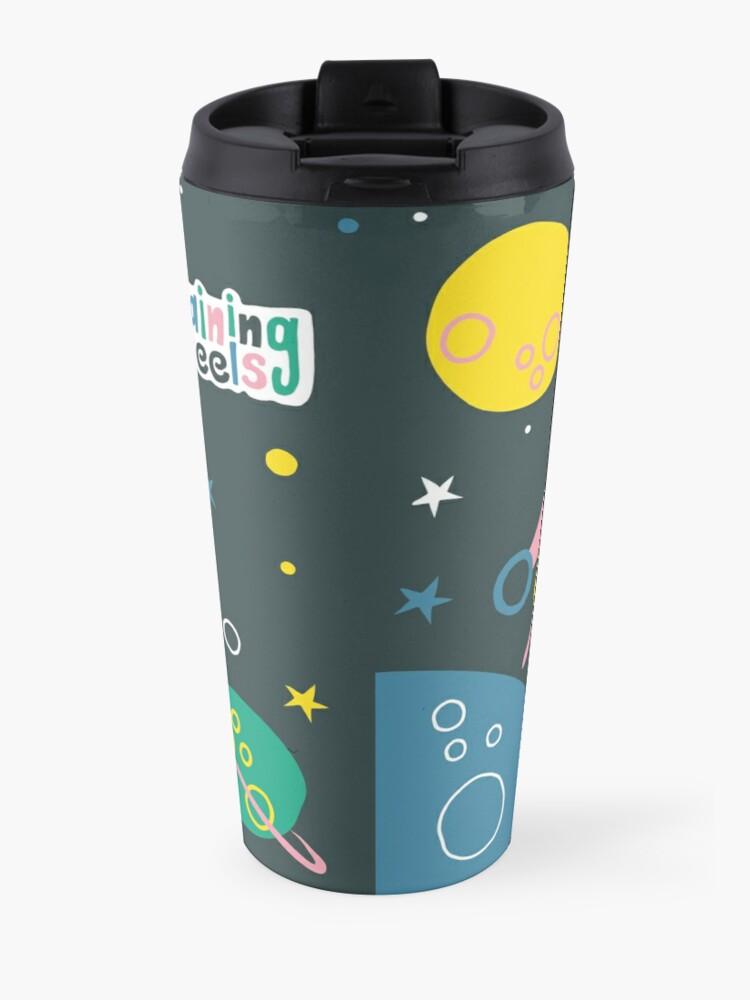 Vista alternativa de Taza de viaje ¡Nos vamos a la luna!