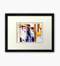 Controller in the railway wagon Framed Print
