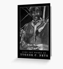 Local Medicine Man, Yap - Black Greeting Card