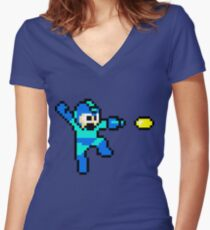 Blue Bomber Women's Fitted V-Neck T-Shirt