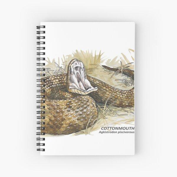 Cottonmouth (Agkistrodon piscivorous) Spiral Notebook