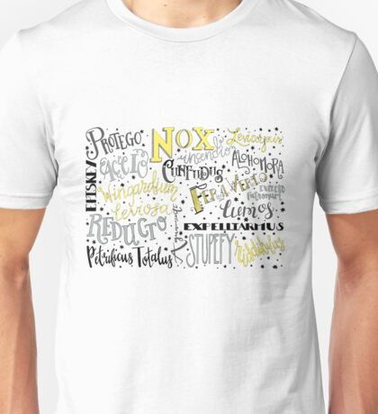 Spells & Charms-Yellow Unisex T-Shirt