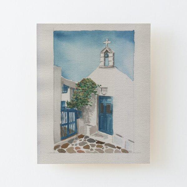 Blue Door Wood Mounted Print