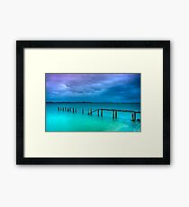 The Little Cleveland Jetty Framed Print