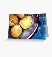 pears in a bowl Greeting Card