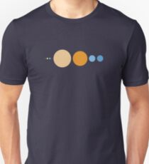 Planets To Scale Unisex T-Shirt