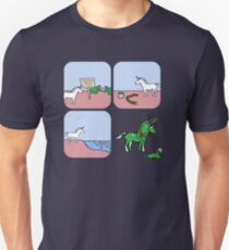 Unicorn and Narwhals as Triceratops - story Unisex T-Shirt