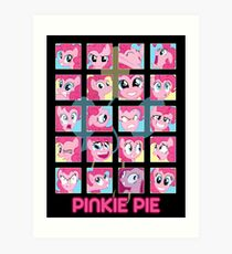The Many Faces of Pinkie Pie Art Print