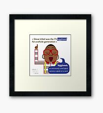Steve Urkel: the egghead hero Framed Print