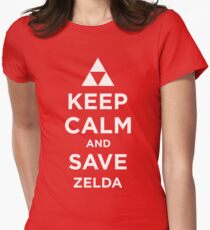 Keep Calm and Save Zelda Womens Fitted T-Shirt