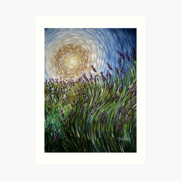 Lavender in Motion Art Print