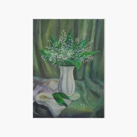 Lilies of the valley Art Board Print
