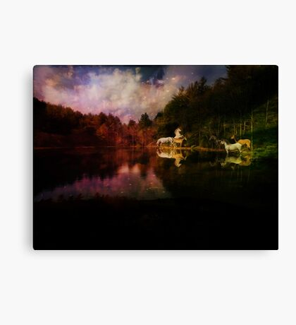 A Flame Ignited Canvas Print