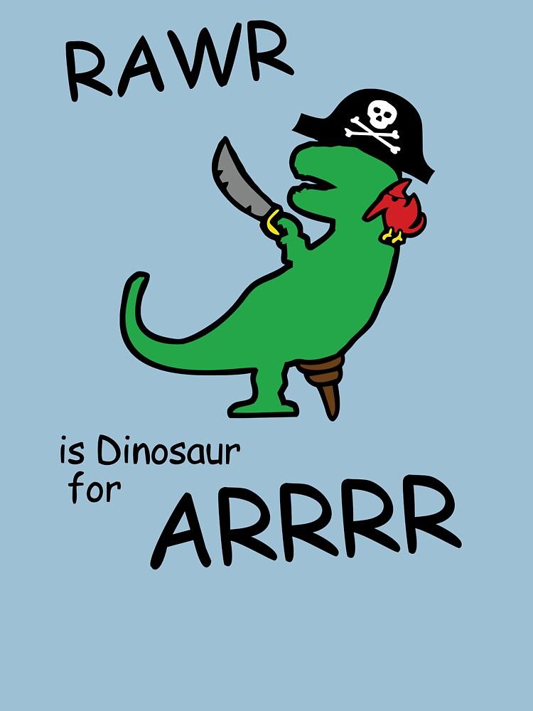 RAWR is Dinosaur for ARRR (Pirate Dinosaur) by jezkemp