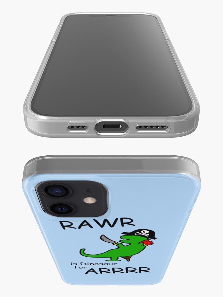 Alternate view of RAWR is Dinosaur for ARRR (Pirate Dinosaur) iPhone Case & Cover