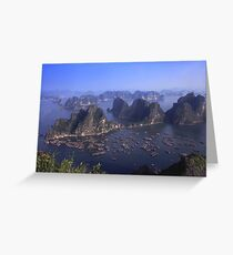 Vietnam Ha Long bay aerial view Greeting Card