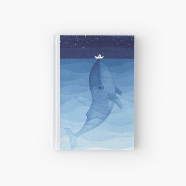 Blue whale, sea animal Hardcover Journal