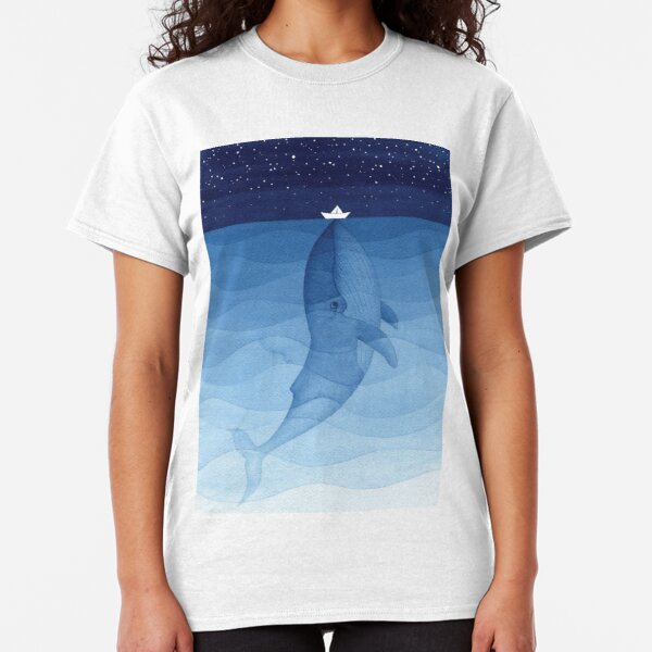 Blue whale, sea animal Classic T-Shirt