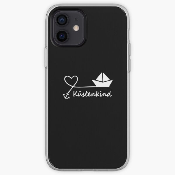 Coastal child heart anchor boat iPhone Soft Case