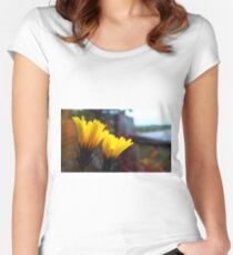 Yellow Women's Fitted Scoop T-Shirt