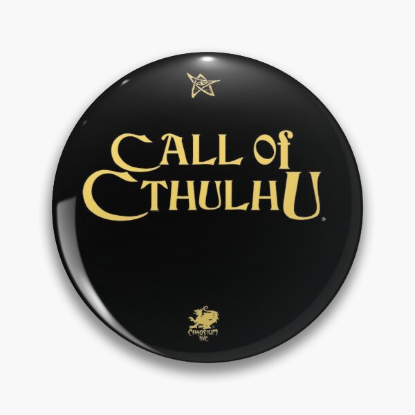 Call of Cthulhu - Logo (gold with Elder Sign & Chaosium Inc. Logo) Pin