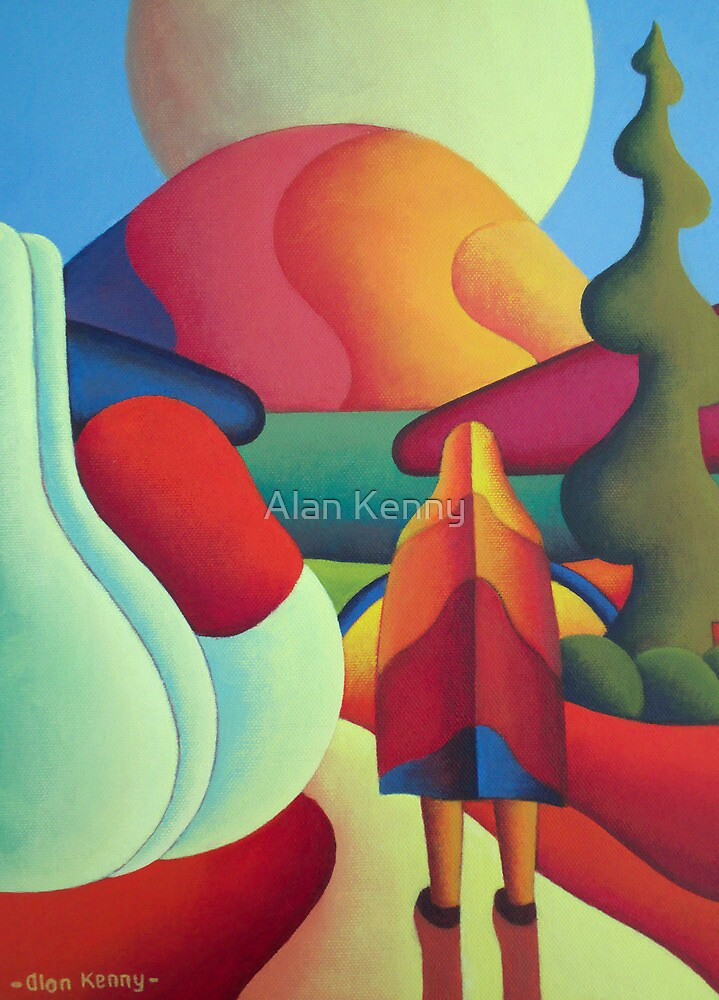 Pilgrimage to the sacred mountain 3 by Alan Kenny