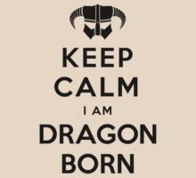 Keep Calm cause I Am Dragonborn (Light Colours Version 01)