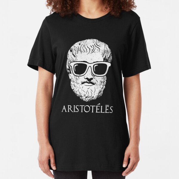 Father Of Political Science Aristotle Philosopher Tshirt Slim Fit T-Shirt