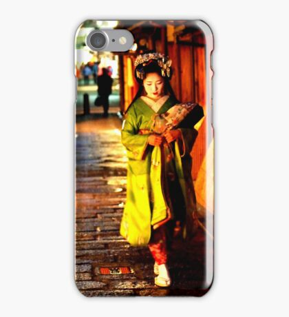 geisha in gion iPhone Case/Skin