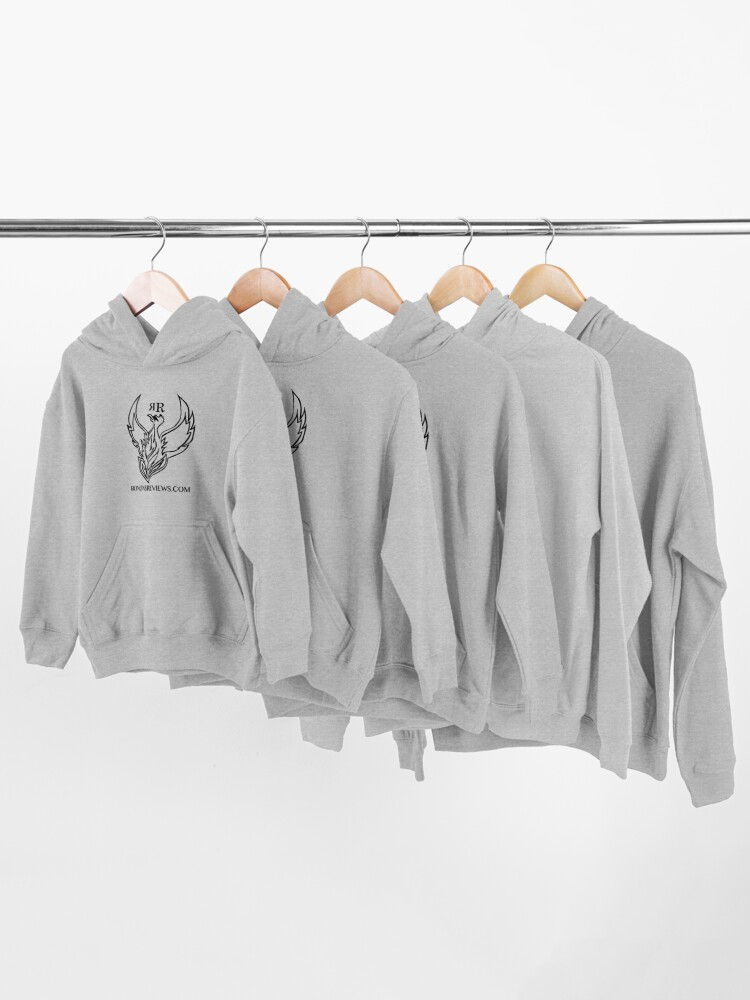 Alternate view of Ronon's Reviews Official Merch Kids Pullover Hoodie